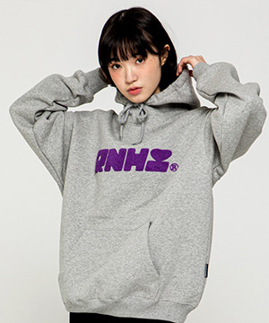 RNHI BOUCLE EMBROIDERY HOODIE [GRAY]