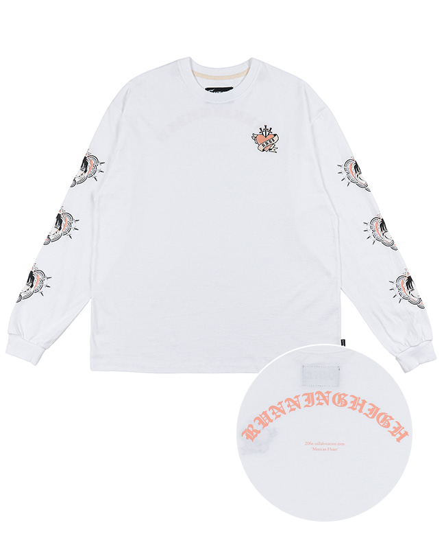 [SUZANI] MEXICAN HEART L/S TEE [WHITE]