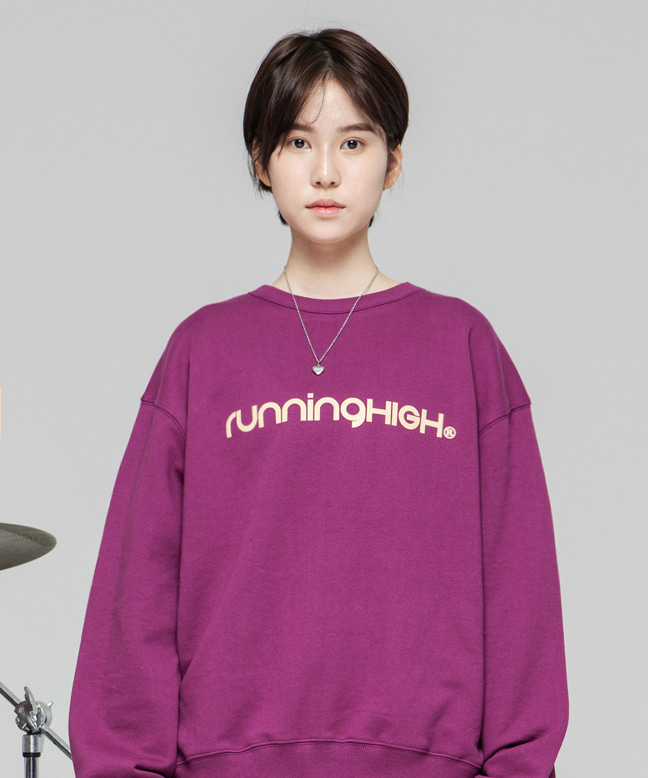 BASIC LOGO SWEAT SHIRT [VINTAGE PINK]