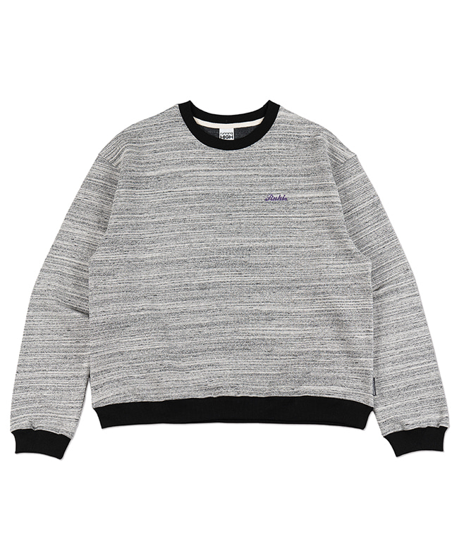 MELANGE COLOR SWEAT SHIRT [WHITE]
