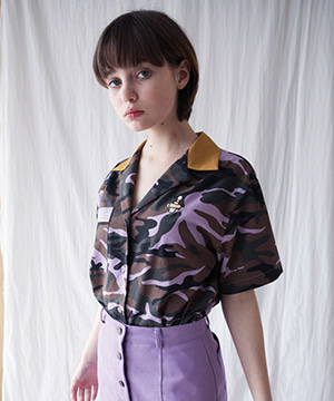 STRIKE CITY BOWLING SHIRT [VIOLET CAMO]