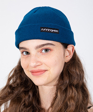 BOX LOGO COTTON BEANIE [BLUE]