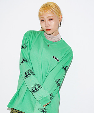ANGEL PRINTING L/S TEE [GREEN]