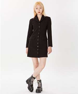 RNHI SLIM BLAZER DRESS [BLACK]