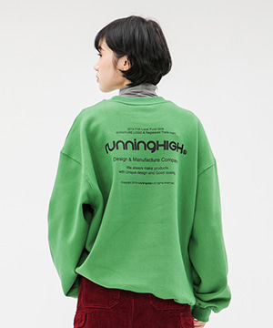 [NAPPING] LOGO MESSAGE SWEAT SHIRT [GREEN]