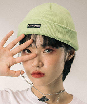 BOX LOGO COTTON BEANIE [NEON]