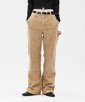 8WALE CORDUROY CARPENTER PANTS [BEIGE]