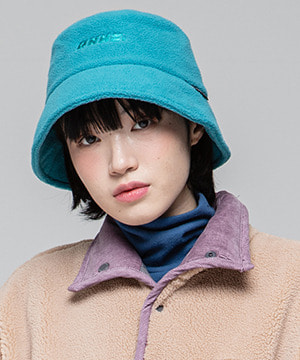 RNHI FLEECE BUCKET HAT [BLUE GREEN]