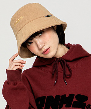 RNHI FLEECE BUCKET HAT [BEIGE]