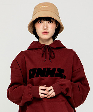 RNHI BOUCLE EMBROIDERY HOODIE [WINE]