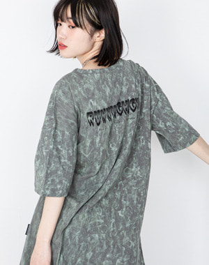 HORROR GRAPHIC DYED OVERSIZE TEE [DIRTY GREEN]