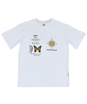 RNHI THEORY HALF SLEEVE TEE [WHITE]