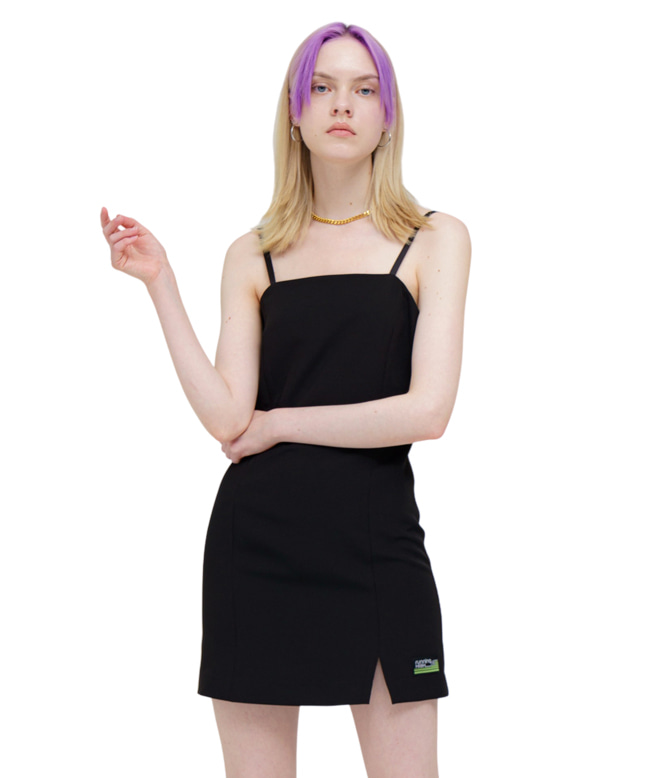 BASIC SLEEVELESS MINI DRESS [BLACK]