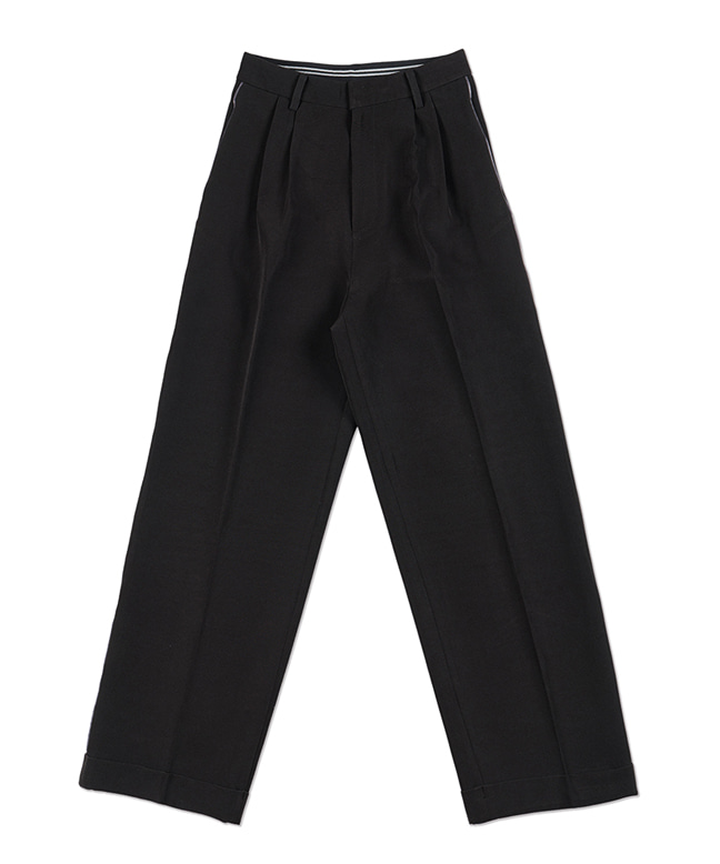LINE POINT WIDE SLACKS [BLACK]