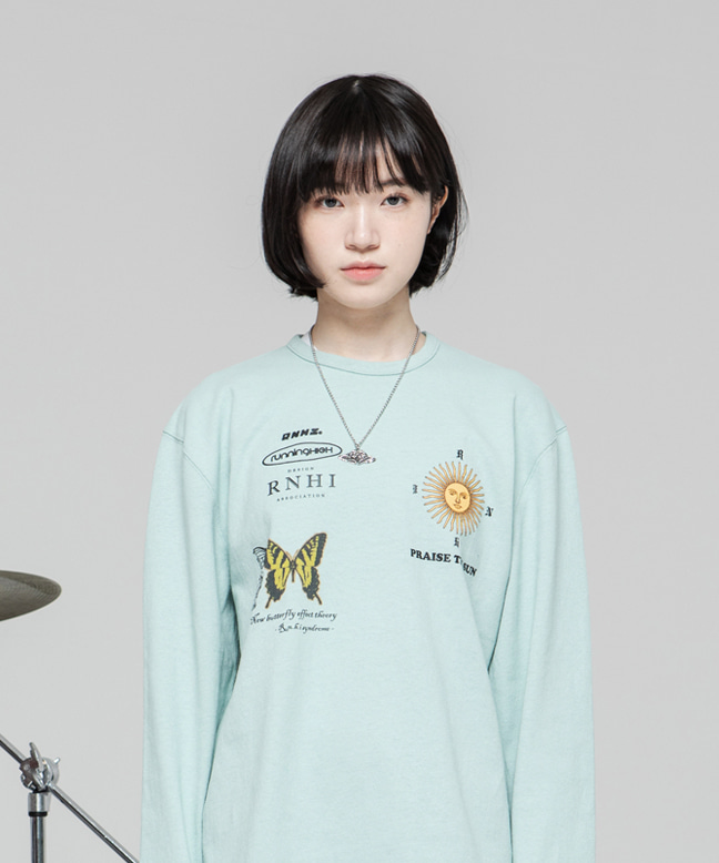 RNHI THEORY OVERSIZED TEE [MINT]