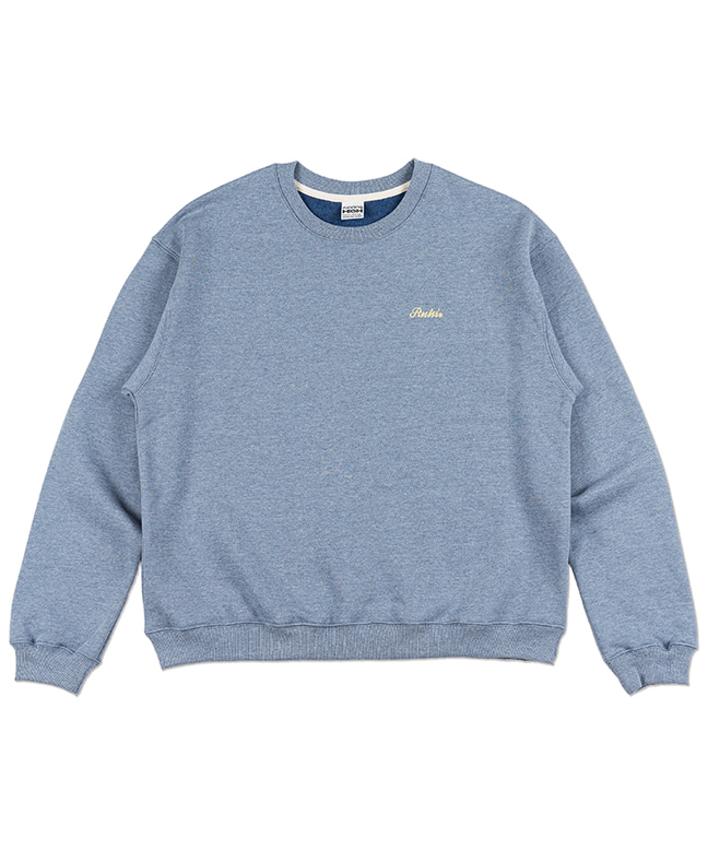 MELANGE COLOR SWEAT SHIRT [SKY BLUE]