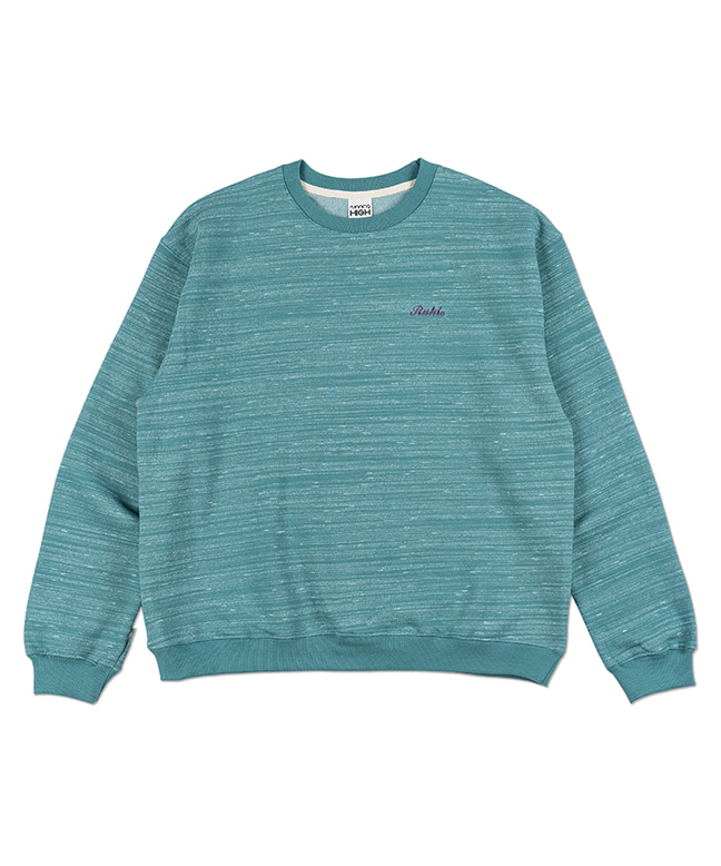 MELANGE COLOR SWEAT SHIRT [MINT]