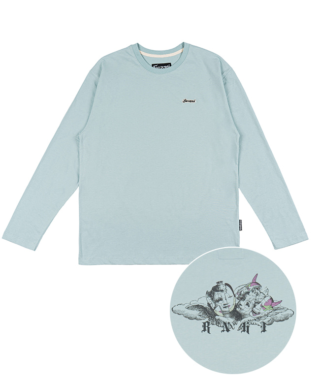 [SUZANI] MASK ANGEL L/S TEE [MINT]