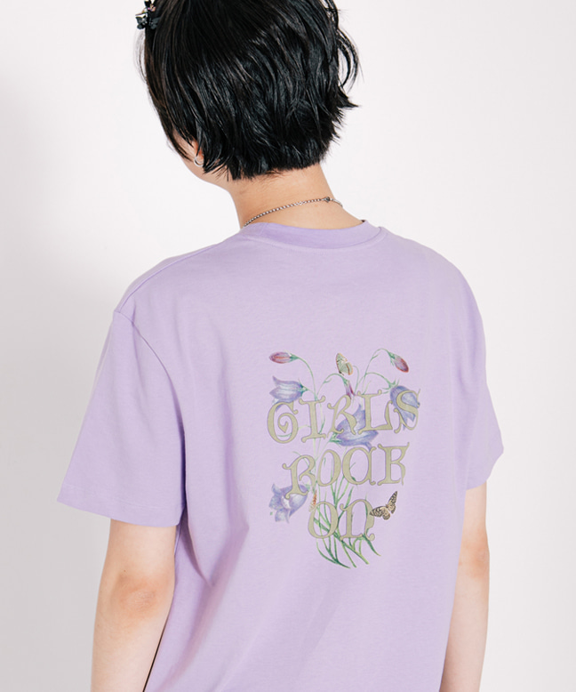 GIRLS ROCK ON HALF SLEEVE TEE [LIGHT PURPLE]