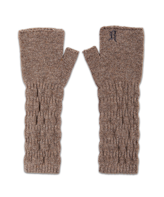 [11/6 예약배송] CABLE KNITTED HAND WARMER [BROWN]