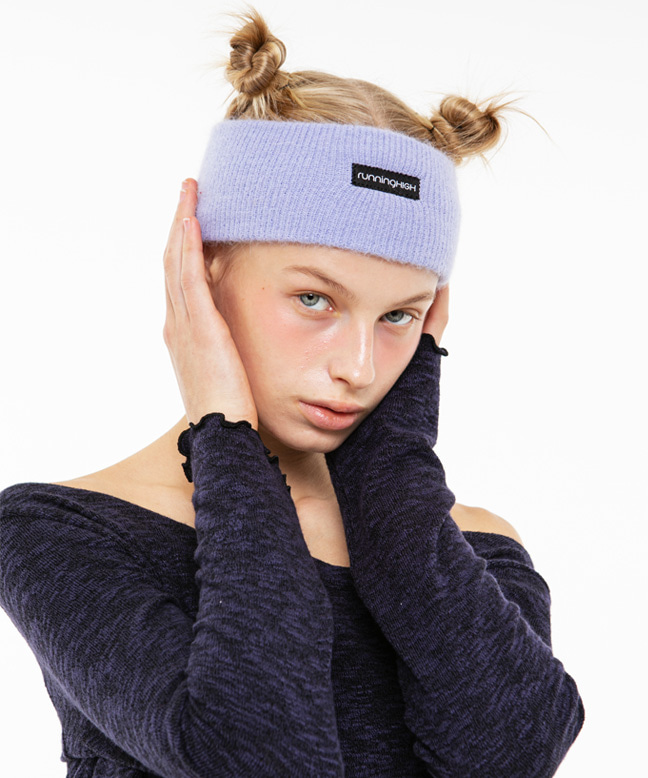 [11/6 예약배송] BOX LOGO ANGORA HAIR BAND [PURPLE]