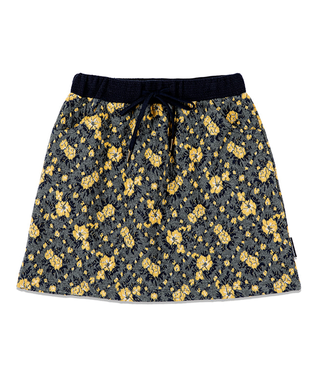 FLORAL BANDING SKIRT [GREY]
