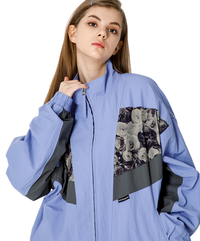 FLOWER POINT RETRO TRACK JACKET [LIGHT PURPLE]