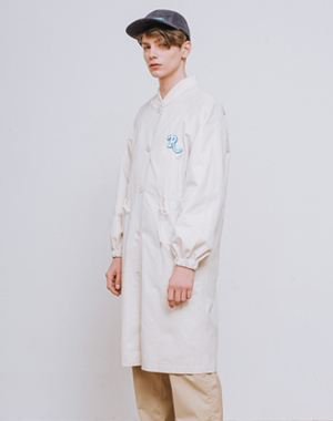 [UNISEX] R RAGLAN BIG SLEEVE COAT [IVORY]