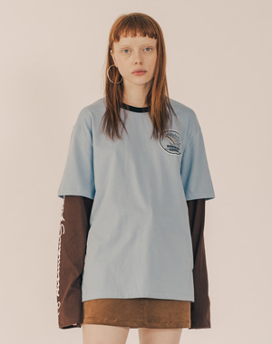 BOHEMIAN SQUAD LAYERED SLEEVE CUT&SEWN [SKY BLUE]