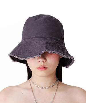 FRINGE WASHING BUCKET HAT [DARK PURPLE]