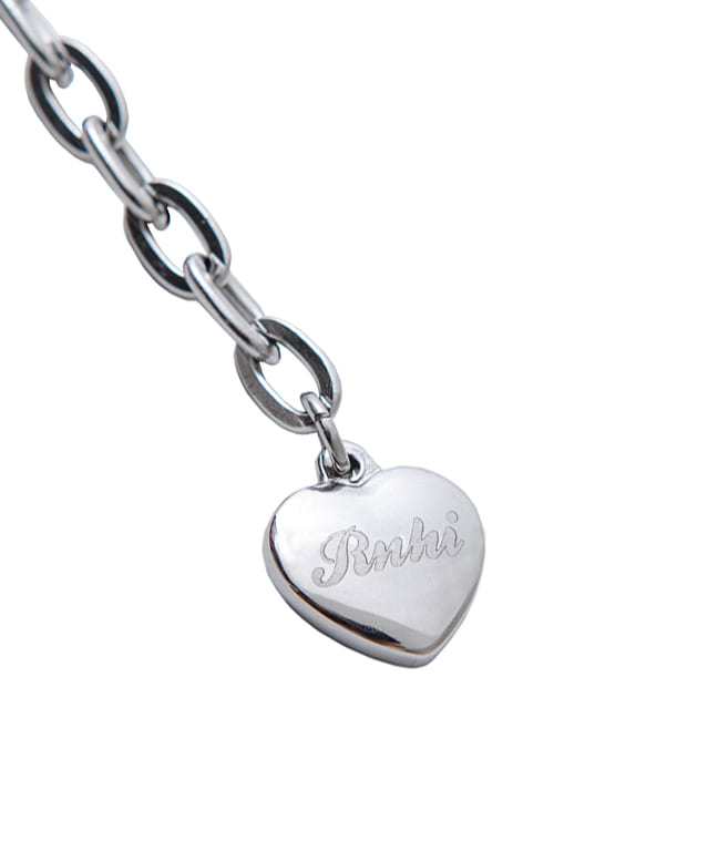 SURGICAL STEEL HEART BRACELET