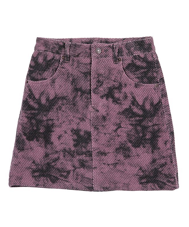 CLOUD DYE COTTON MINI SKIRT [PINK]
