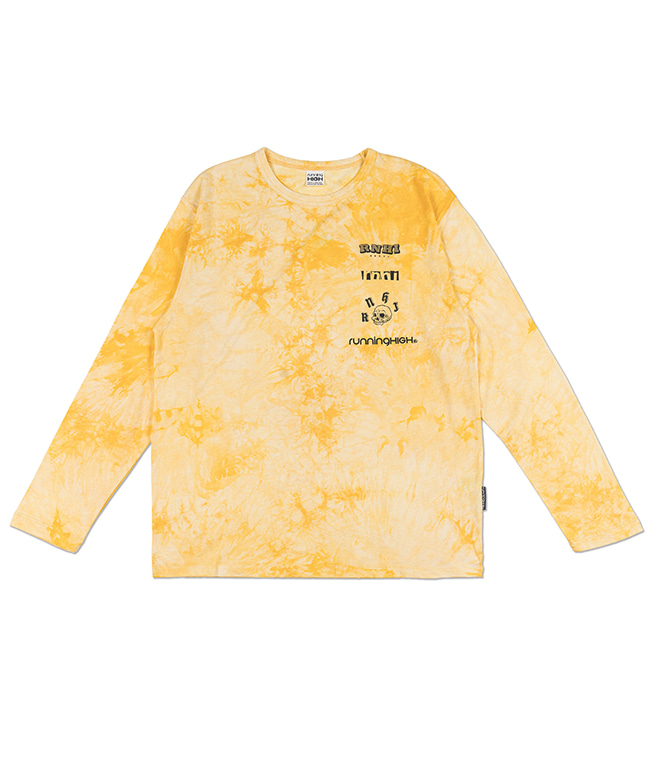 LOGO PLAY TIE-DYE L/S TEE [YELLOW]