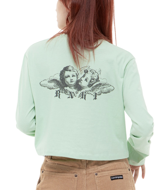 ANGEL CROP L/S TEE [MINT]