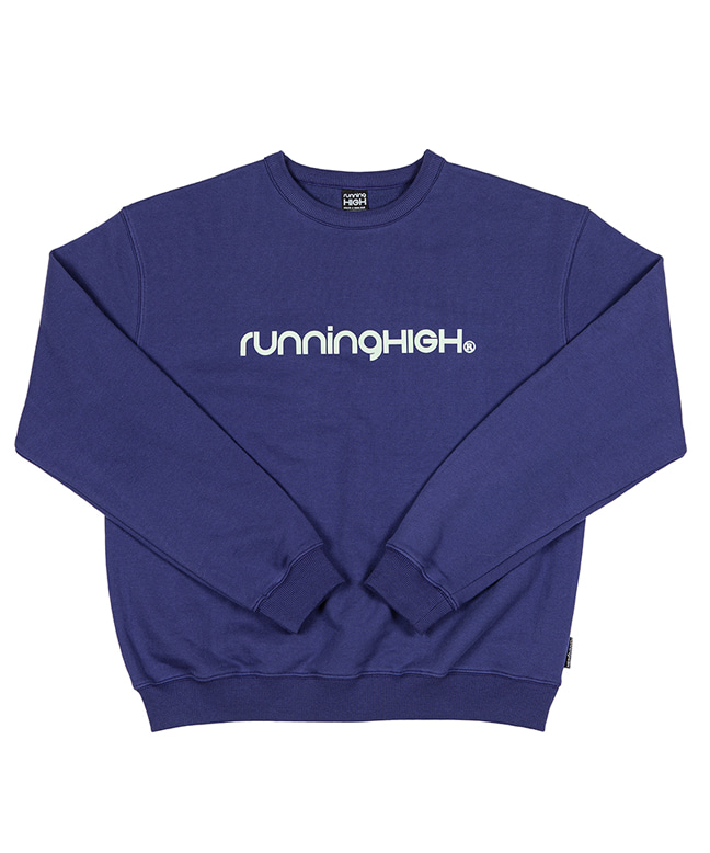 BASIC LOGO SWEAT SHIRT [PURPLE NAVY]