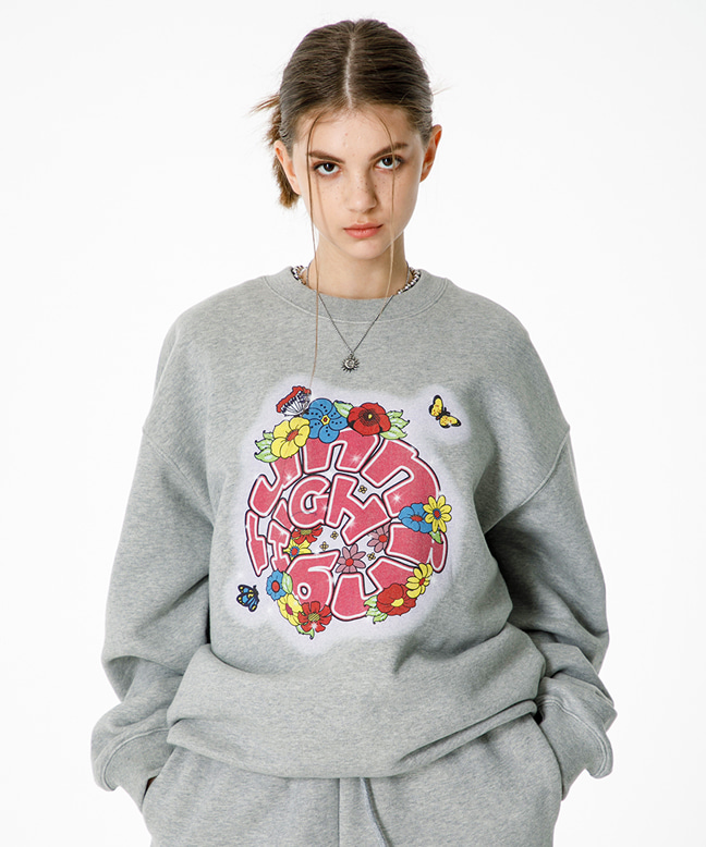 FLOWER LOGO SWEAT SHIRT [GREY]