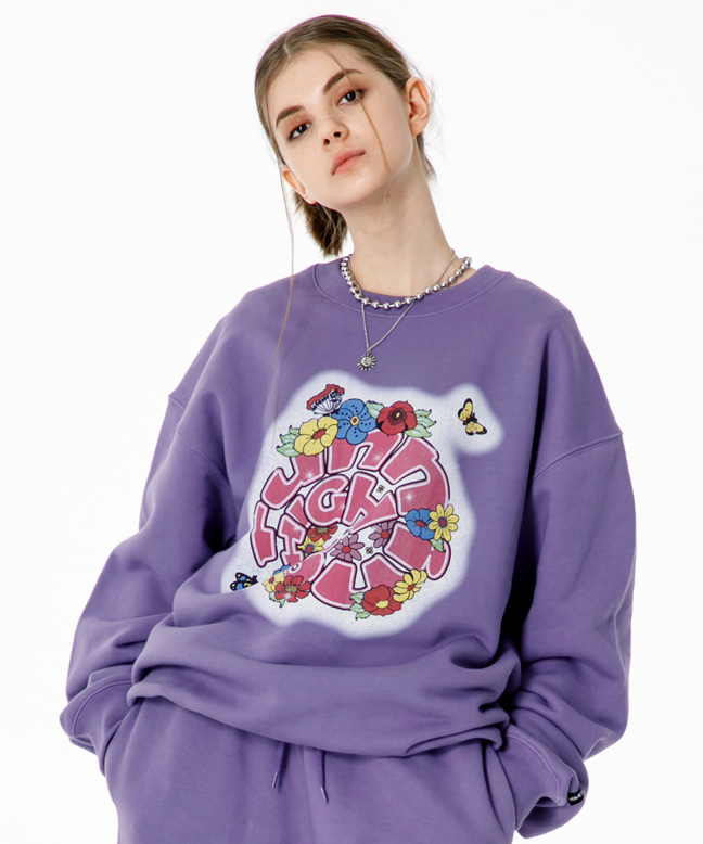 FLOWER LOGO SWEAT SHIRT [PURPLE]