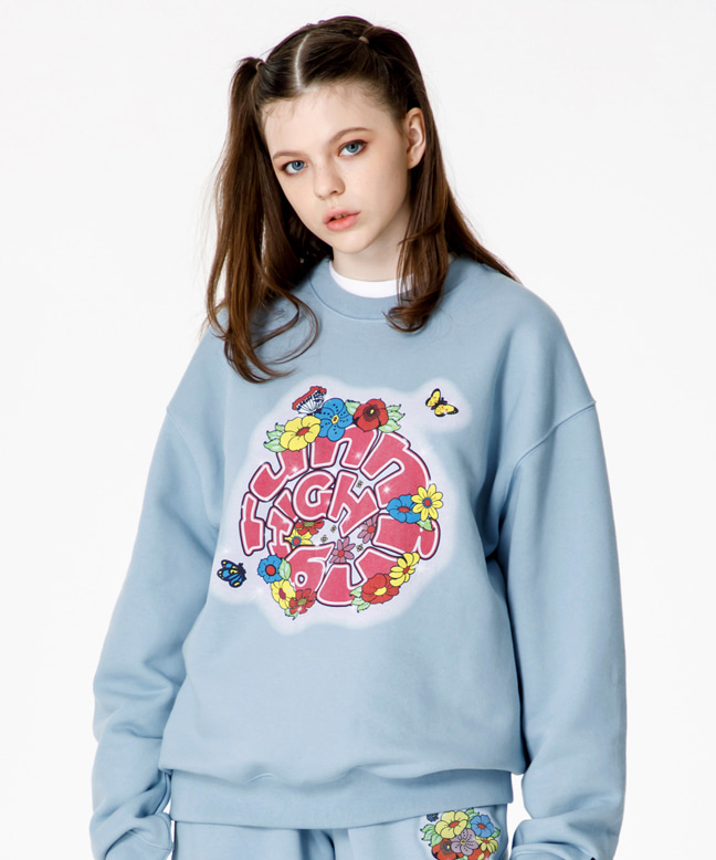 FLOWER LOGO SWEAT SHIRT [SKY BLUE]